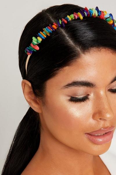 Multicoloured Stone Headband
