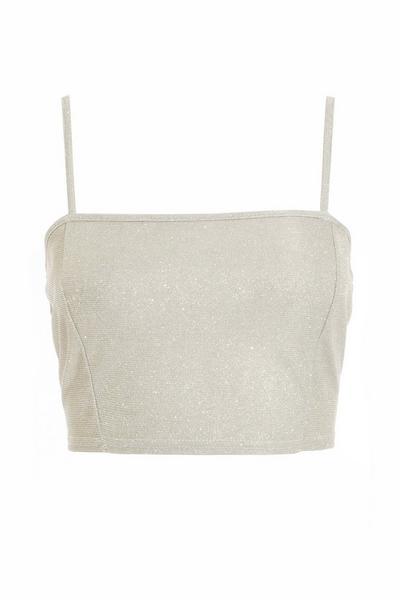 Silver Shimmer Crop Top