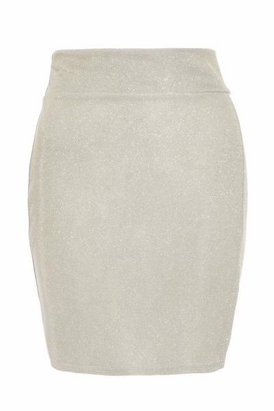 Silver Shimmer Mini Skirt