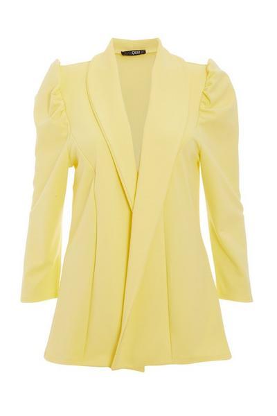 Lemon Puff Sleeve Blazer
