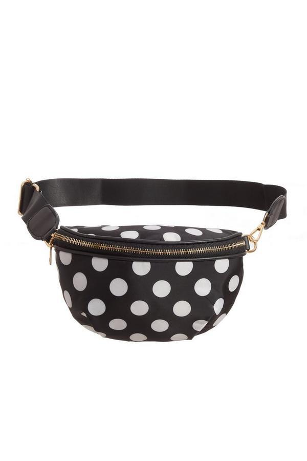 Black Polka Dot Bum Bag