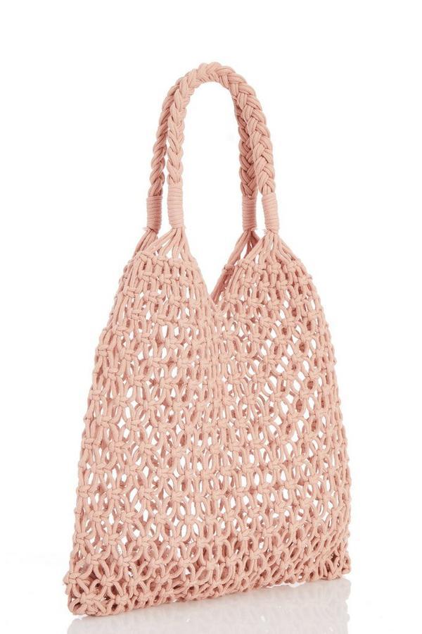 Blush Net Shopper Bag