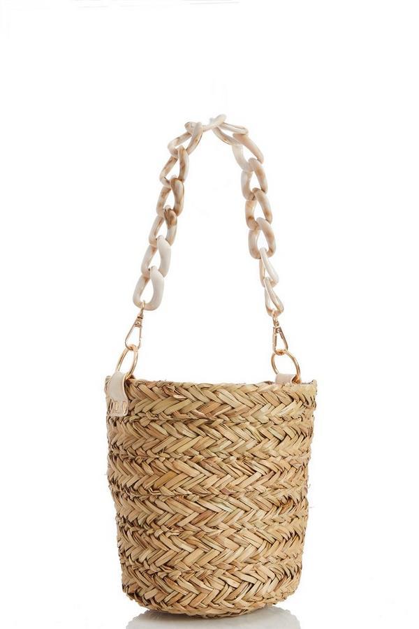 Cream Straw Basket Bag