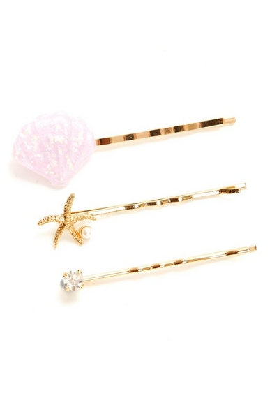 Gold Shell Hair Clips