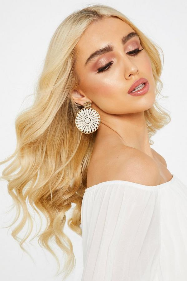 Gold Woven Circle Earring