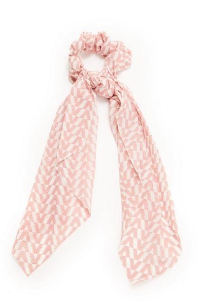 Pink Tie Scrunchie