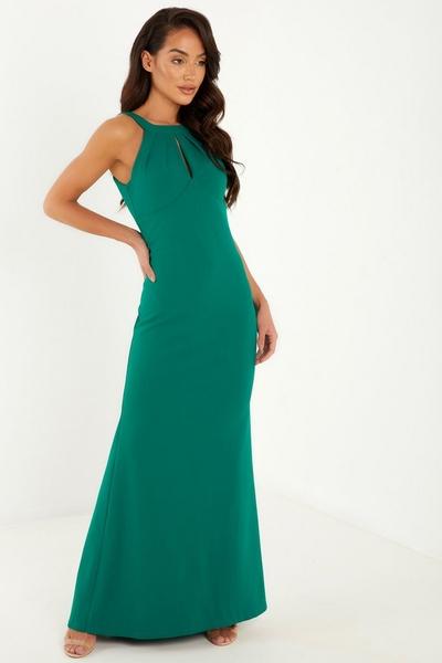 Green Fishtail Maxi Dress