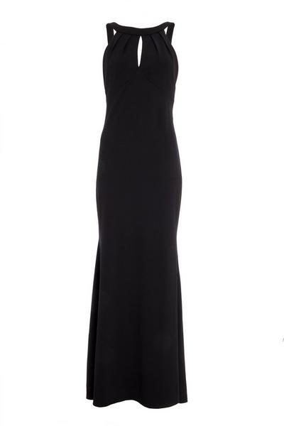 Black Fishtail Maxi Dress