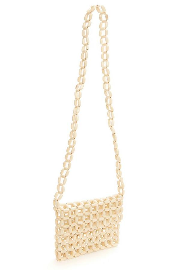 Cream Beaded Bag