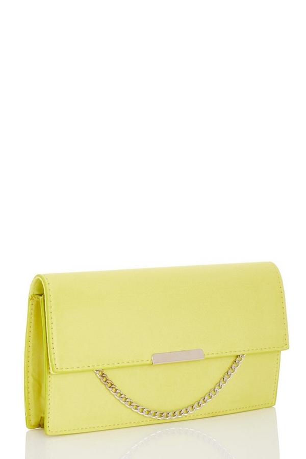Yellow Chain Clutch Bag