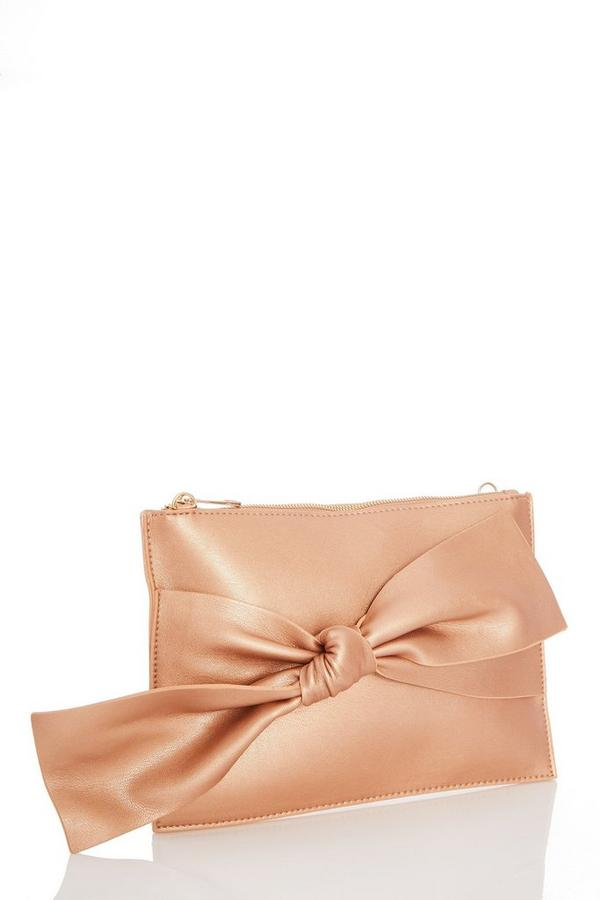 Champagne Knot Front Clutch Bag