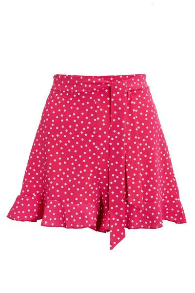 Pink & White Polka Dot Shorts