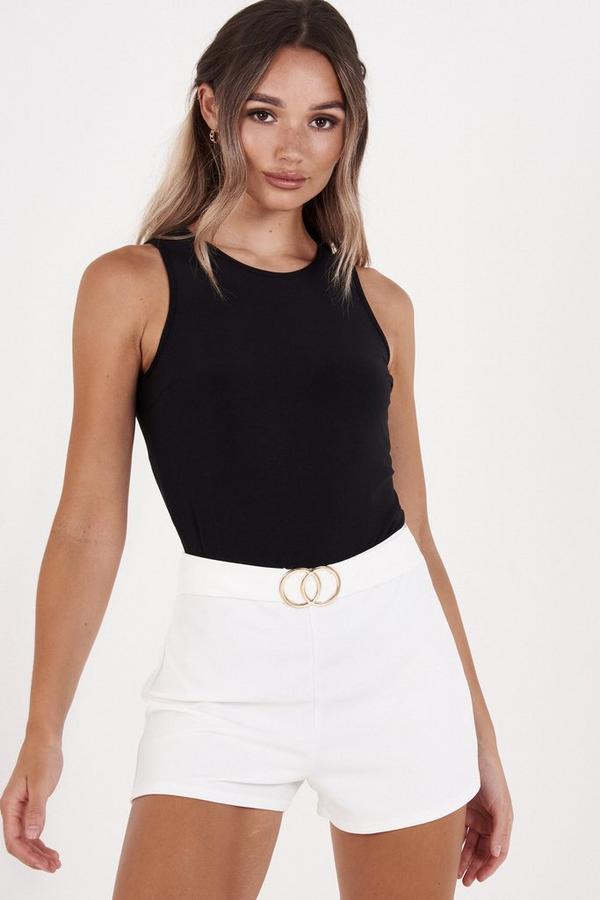 Cream High Waist Shorts