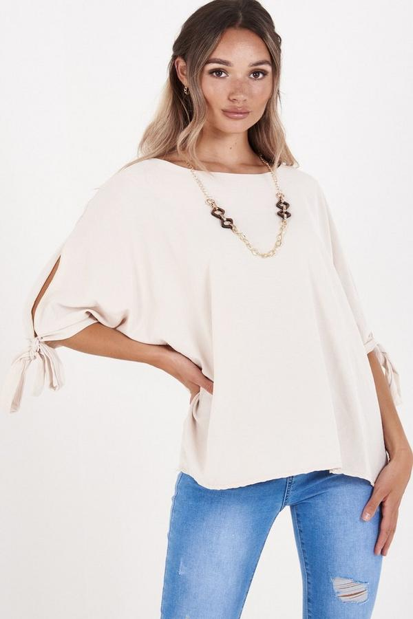 Stone Batwing Necklace Top