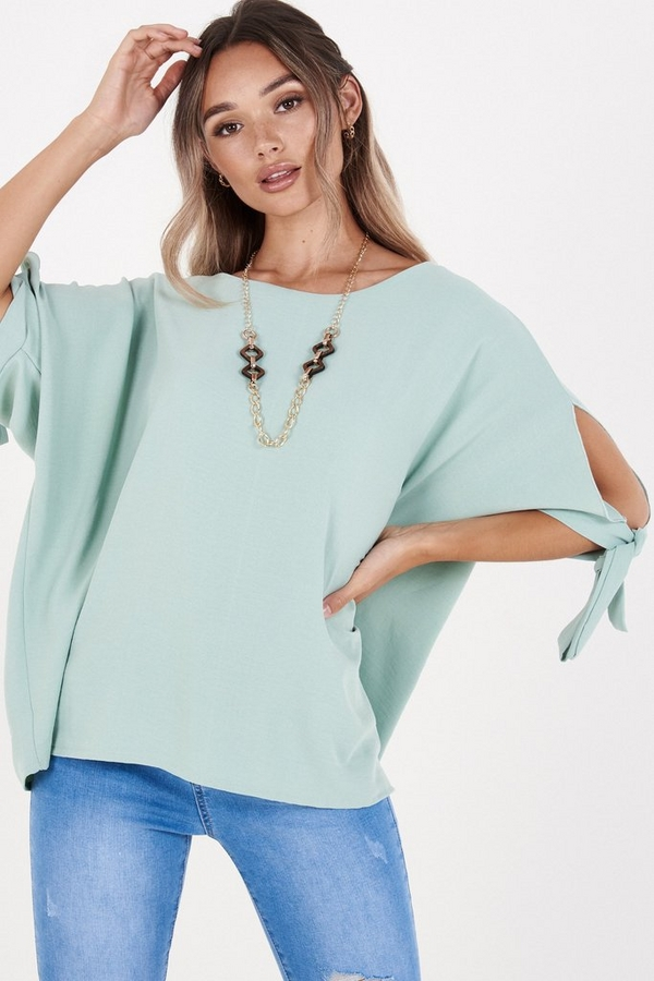 Sage Batwing Necklace Top