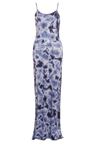 Blue Tie Dye Maxi Dress
