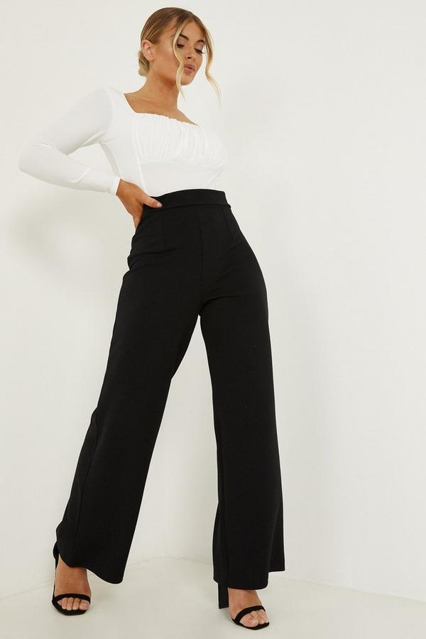 Petite Black Palazzo Trousers