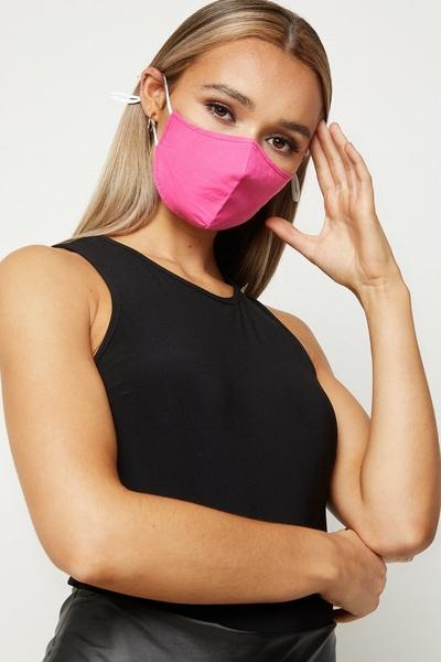 Hot Pink Fashion Face Mask