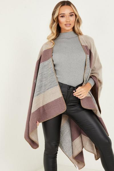 Grey & Purple Shimmer Cape
