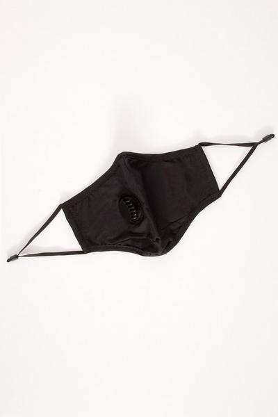 Black Ventilation Fashion Face Mask