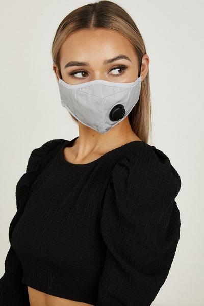 Grey Ventilation Fashion Face Mask