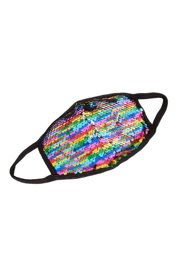 Multicoloured Sequin Fashion Facemask