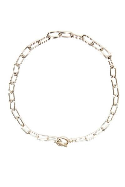 Silver T Bar Chain Necklace