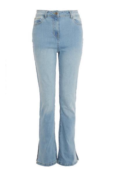 Light Blue Split Hem Jeans