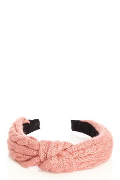 Pink Knitted Headband