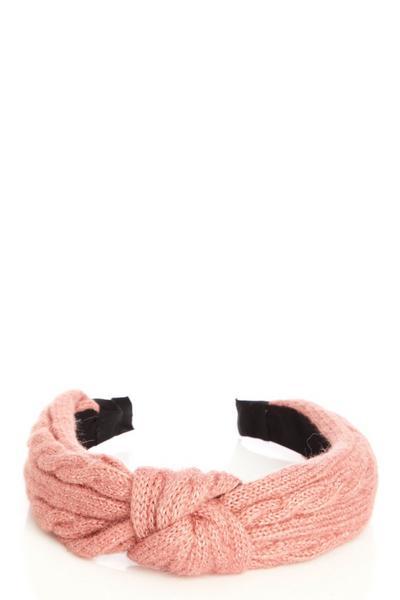 Blush Pink Knitted Headband