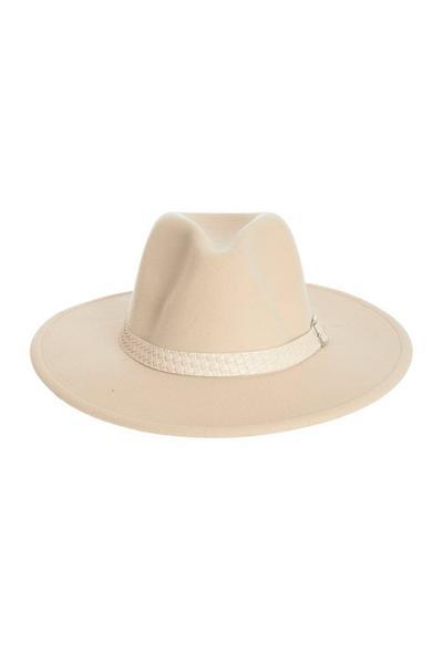 Cream Fedora Hat