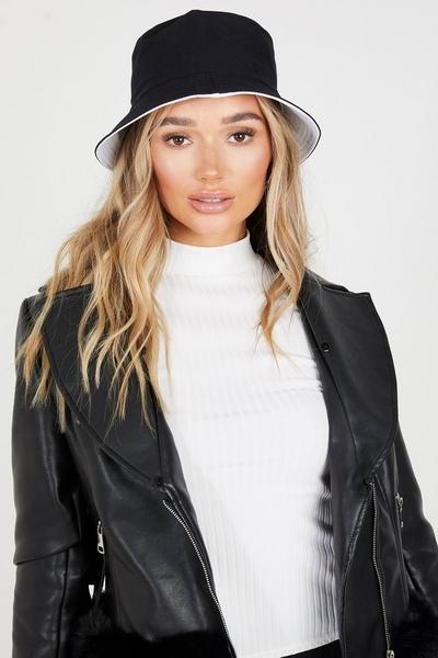 Black & White Reversible Bucket Hat