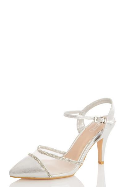 Silver Shimmer Mesh Courts
