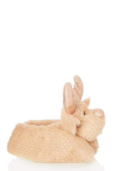 Brown Reindeer Slipper