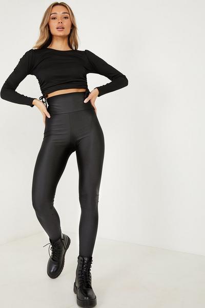 Black Disco High Waist Legging