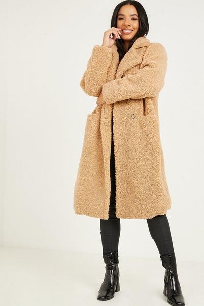 Tan Borg Teddy Bear Long Coat