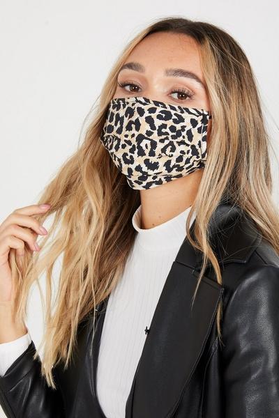 Brown Leopard Print Fashion Face Mask