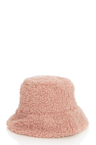 Pink Teddy Bucket Hat