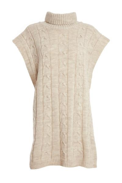 Stone Cable Knit Tunic