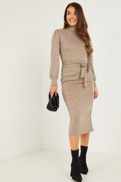 Stone Light Knit Midi Dress
