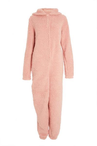 Pink Teddy Onesie