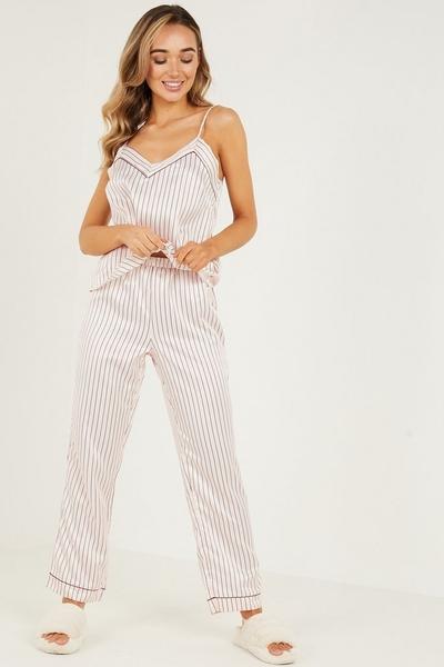 Pink Stripe Cami Pyjama Set