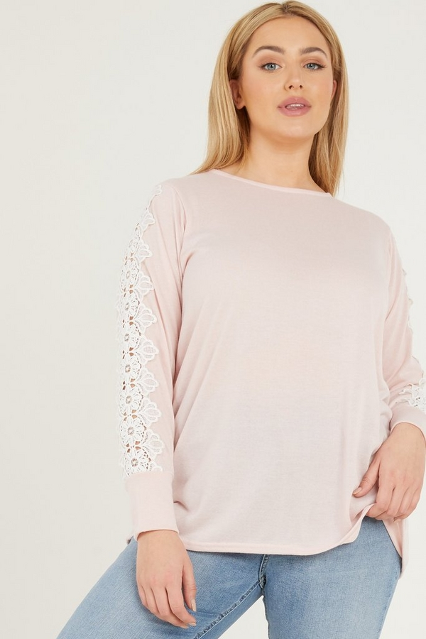 Curve Pink Light Knit Jumper