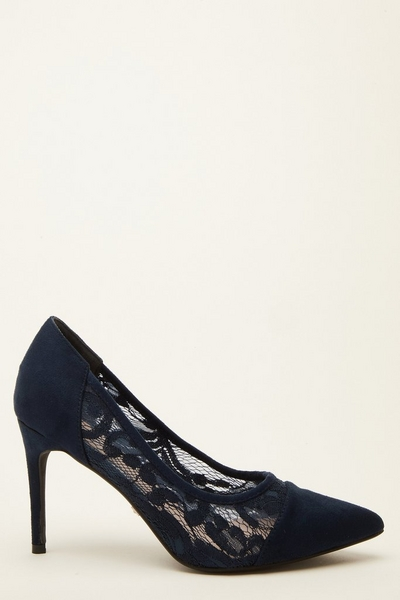 Navy Lace Courts