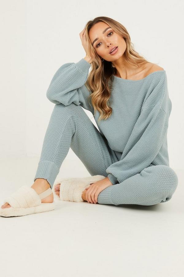 Mint Knitted Lounge set