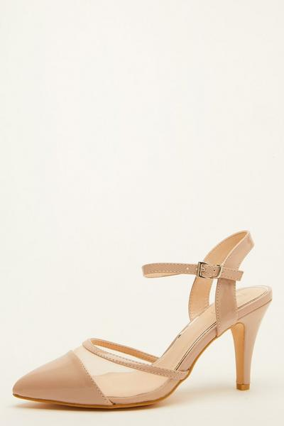 Nude Patent Mesh Courts