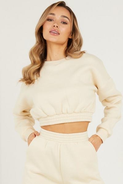 Stone Cropped Sweatshirt