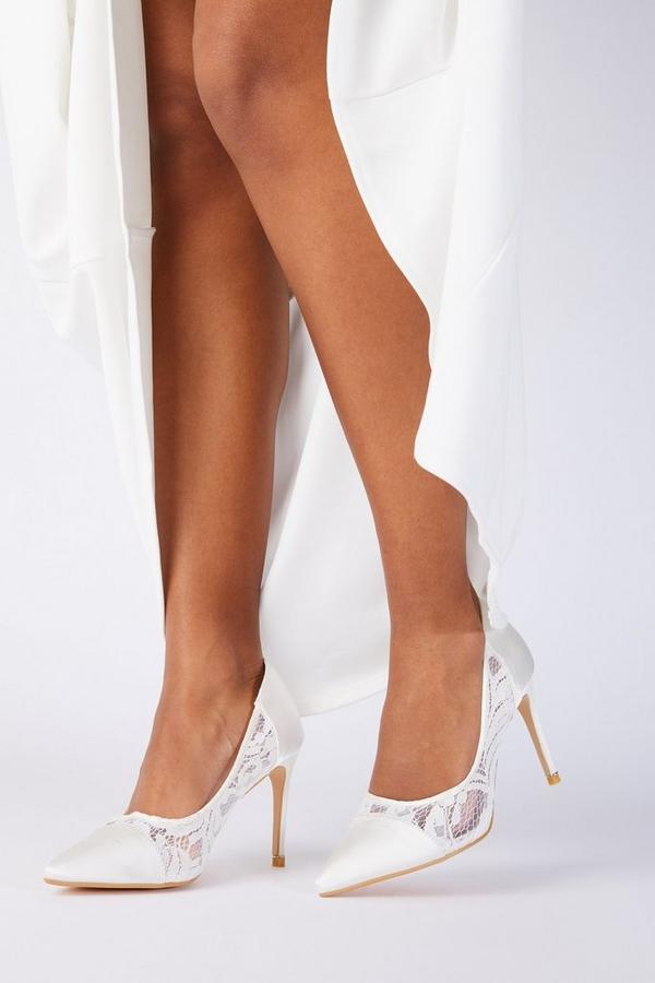 Bridal White Lace Courts