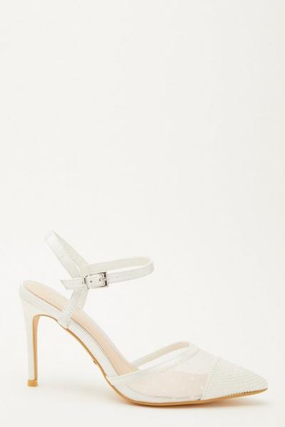 Bridal White Mesh Courts