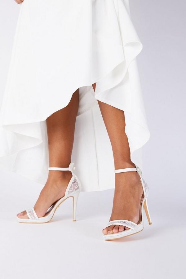 Bridal White Lace Heeled Sandal